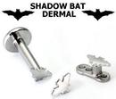 Painful Pleasures DERM018-14G-BAT 14g - 12g Internally Threaded Bat Top - Price Per 1