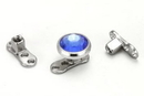 Painful Pleasures DERM035-STEM-VER4 14g Titanium Dermal Anchor with Square Post 2mm Rise and 3-Hole Base - Price Per 1