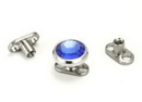 Painful Pleasures derm036 14g Titanium Dermal Anchor with 2mm Rise & 2-Hole Shorty Base - Price Per 1
