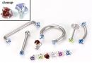Painful Pleasures derm077-18g-16g-heart 18g - 16g Internally Threaded Jewel Prong-Set Heart Top - Price Per 1