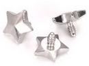 Painful Pleasures derm105 14g - 12g Internally Threaded 4mm Steel Star Top - Price Per 1