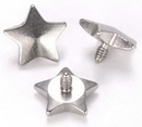 Painful Pleasures derm106 14g - 12g Internally Threaded 5mm Steel Star Top - Price Per 1