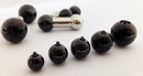 Painful Pleasures derm196 0g Internally Threaded Black PVD Coated Counter-Sunk Ball - Price Per 1