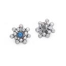 Painful Pleasures derm391-anod 14g-12g Internally Threaded Micron Bead Cluster Titanium Opal Top - Price Per 1