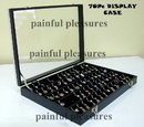 Painful Pleasures DIS-022 Glass Top Display Case - Empty - Clips or Bands your Choice