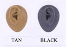 Painful Pleasures DIS-050 Silicone Plug Left Ear Display - Tan Body Bit Version 1
