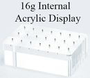 Painful Pleasures DIS-088 16g Internal Acrylic Display Solid Block with 21 Posts