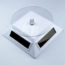 Painful Pleasures DIS-093 Solar Powered White Small Spinning Display Turntable