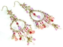 EAR037 Extra Long Beaded Earrings - Fashion Accessories Costume Jewelry