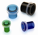 Gorilla Glass GG069-BSB-S Single Flare Bullet Hole Plugs Soda Lime Glass Body Jewelry - Price Per 1