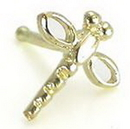 Painful Pleasures GNS095 20g 14kt Yellow Gold DRAGONFLY Nose Bone Body Jewelry