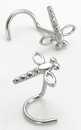 Painful Pleasures GNS096 20g 14kt White Gold DRAGONFLY Nose Screw Body Jewelry