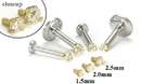Painful Pleasures GNS131-yellow-cz 18g-16g Internally Threaded Replacement YELLOW GOLD PRONG CZ - Price Per 1