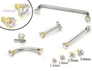 Painful Pleasures GNS137-yellow-lavender 14kt Yellow Gold Internally 1.2mm Threaded LAVENDER Prong Set Stones - 4 Sizes - Price Per 1