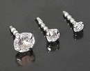 Painful Pleasures GNS218 14kt White Gold BioPlastic Prong Setting CZ in 1.5mm, 2.0mm or 3.0mm - addon