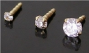 Painful Pleasures GNS221 14kt Yellow Gold BioPlastic Prong Setting CZ in 1.5mm, 2.0mm or 3.0mm - addon