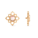 Painful Pleasures GNS249 18g-16g Internally Threaded Yellow Gold Cruciform Flower Top - White Opal Center - Price Per 1