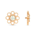 Painful Pleasures GNS250 18g-16g Internally Threaded Yellow Gold Wildflower Top - White Opal Center - Price Per 1