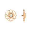 Painful Pleasures GNS254 14g-12g Internally Threaded Yellow Gold Hellebore Top - White Opal Center - Price Per 1