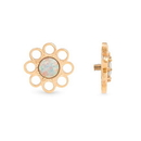 Painful Pleasures GNS256 14g-12g Internally Threaded Yellow Gold Wildflower Top - White Opal Center - Price Per 1