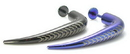 """Painful Pleasures JL038 16g 5/16"""" Plated Steel 35mm Right Angle Labret with Vertebrae"""