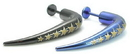 """Painful Pleasures JL039 16g 5/16"""" Plated Steel 35mm Right Angle Labret with Stars"""
