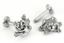 Painful Pleasures JL125 14g FROG Steel Casted Labret