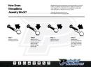 Painful Pleasures JL172 18g, 16g or 14g Steel Push Pop Threadless Ball - Price Per 1