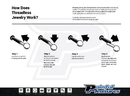 Painful Pleasures JL173 18g, 16g or 14g Steel Push Pop Threadless Cone - Price Per 1
