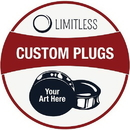 Limitless Limit-028 Black Acrylic Single Flare Picture Plug - Design Your Own Plug - Price Per 1