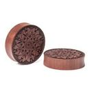 Limitless Limit-172 Prana Mandala Engraved Solid Wood Plug - Price Per 1