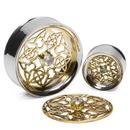 Elementals Organics MAKE-ORG2087-P432 Putri Brass Insert with Double Flare Steel Insert-Ability Tunnel - Price Per 1