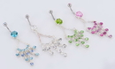"""Painful Pleasures MN0982 14g 7/16"""" Beautiful Chandelier Belly Button Ring"""
