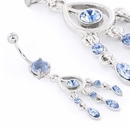"""Painful Pleasures MN0991 14g 7/16"""" Shades of Blue Belly Button Ring"""