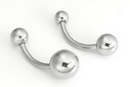 Painful Pleasures MN1112 14g 7/16'' Steel Ball Belly Button Ring