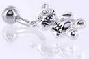 """Painful Pleasures MN1430 14g 7/16"""" ZOMBIE TEDDY Belly Button Navel Jewelry"""