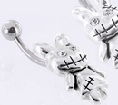 Painful Pleasures MN1431 14g 7/16'' Zombie Bunny Belly Button Ring