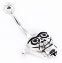 """Painful Pleasures MN1453 14g 7/16"""" DOLL GRIM REAPER Belly Button Jewelry"""