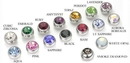 """Painful Pleasures MN1605 14G 7/16"""" Crystal Gem with WHITE FEATHER Belly Button Jewelry"""