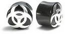 Elementals Organics ORG011 SILVER BIOHAZARD Plug Horn Organic Ear Jewelry - Price Per 1