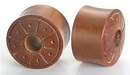 Elementals Organics ORG063 Saba Wood Dial Organic Tribe Body Jewelry 6mm - 20mm - Price Per 1