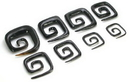"Elementals Organics ORG075 MAZE Wholesale Horn Hanger Organic Body Jewelry 12g - 1/2"" - Price Per 1"