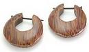 Elementals Organics ORG102-pair WOOD Cheaters # 102 - Stirrups Natural Body Jewelry - Price Per 2