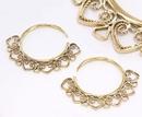 Elementals ORG1027-pair 14g - 4g Bronze Indonesian OTA Hoop Earrings - Price Per 2