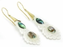 Elementals ORG1099-pair Aadi Bone Earrings with Abalone Shell Inlay Gold Plated French Hook Posts -  Price Per 2