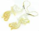 Elementals ORG1105-pair Aandaleeb Mother of Pearl Gold Plated Earrings -  Price Per 2