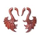 Elementals Organics ORG1620 Red Tigerwood Swan Wing Cheater Earring - Price Per 1
