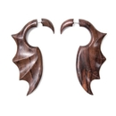 Elementals Organics ORG1625 Sono Wood Gargoyle Wing Cheater Earring - Price Per 1