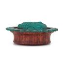 Elementals Organics ORG1635 Carved Turquoise Resting Buddha Red Tigerwood Plug - 6mm-50mm - Price Per 1