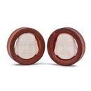 Elementals Organics ORG1637 Carved Bone Laughing Buddha Chang Wood Tunnel - 12mm-50mm - Price Per 1